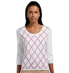 Brooks Brothers supima cotton argyle sweater