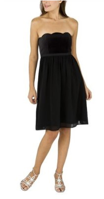 Target limited edition strapless velvet dress