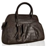 Furla Croc Embossed Yolande Tote Bag