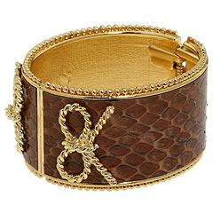 Rachel Leigh Snakeskin Cuff Bracelet