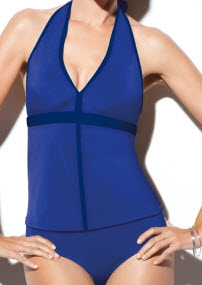 Spanx Chic Trim Bandeau Two Piece