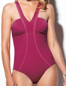 Spanx Chic Trim Deep V-Neck One Piece