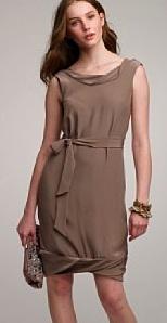 Twisted Charmeuse Dress