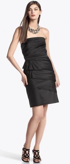 White house black market black and white striped dress