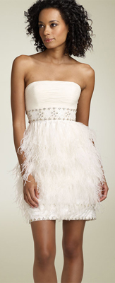 WhiteFeatherDress