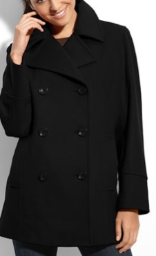 Womens Jackets | Black Peacoats