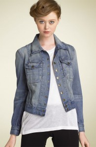 the snap stretch denim jacket