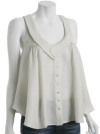alexander wang silk button front top