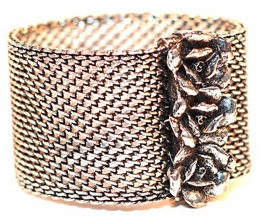 allison daniel designs rose mesh cuff