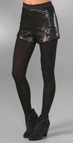 american retro pacha sequin shorts