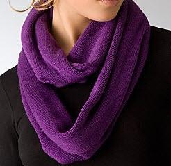 eco purple infinity scarf