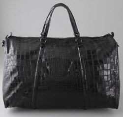 Large Croc Luggage Bag