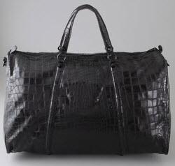 Large Croc Luggage Bag
