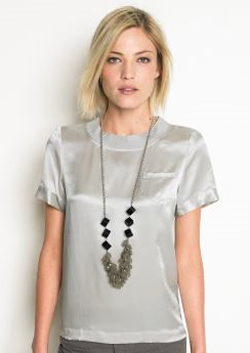 banana republic silk pocket tee