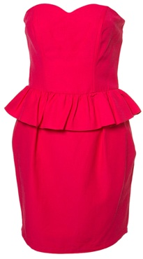 bandeau peplum dress