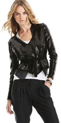 bcbg sequin jacket