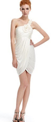 bcbg white dress