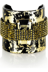 erickson beamon gold leaf cuff