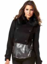 bebe fur jacket