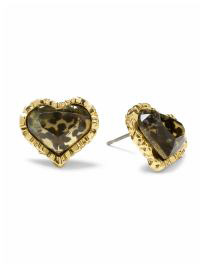 betsey johnson heart studs
