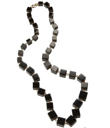 black agate sqaure necklace