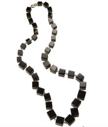black agate sqaure necklace
