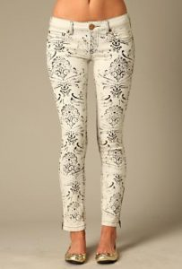 black and white stencil jeans