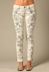black and white stencil jeans