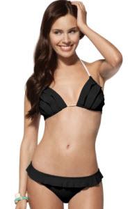 black ruffled bikini