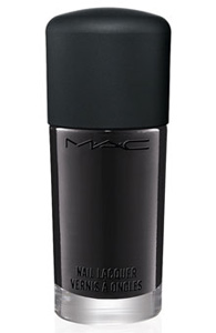 Mac style black nail lacquer in nocturnelle