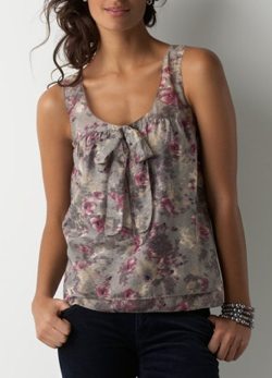 blooms print shell
