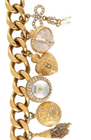 badgley mischka charm bracelet watch