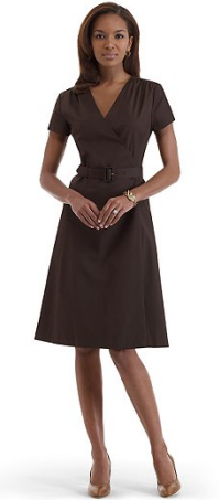 brooks brothers short sleeve wrap dress