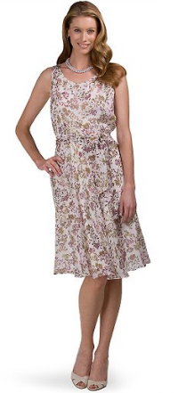 brooks brothers sleeveless floral printed silk dress