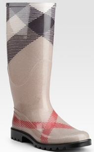 burberry check rainboots