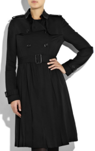 burberry pleated trench