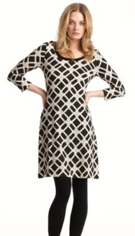 calvin klein links printed sweater dress