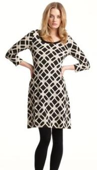 calvin klein links printed sweater dress