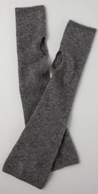bop basics cashmere fingerless gloves