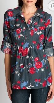 charlotte russe floral stitche blouse