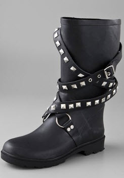 Best Find Of The Day: Edgy Motorcycle Rain Boots