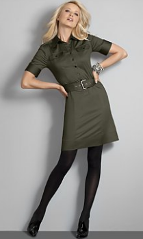 city style belted shirt dress