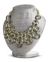 lucite cluster necklace