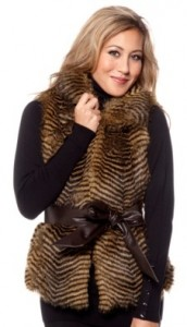 curations faux fur vest
