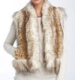Damselle Lush Faux Lynx Fur Vest