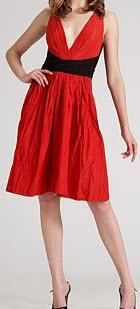 dkny contrast dress