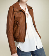 doma leather bomber jacket