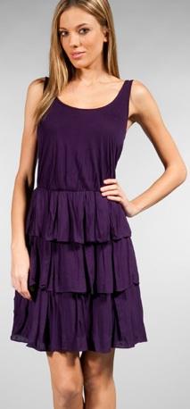 ella moss tiered lila dress