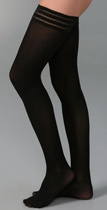 falke pure matte thigh high tights