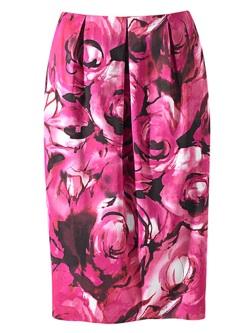 flora print tulip skirt